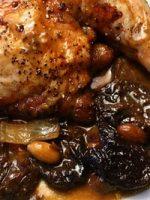 Receta de pollo asado con nueces