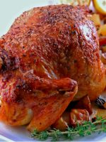 Receta de pollo asado con patatas