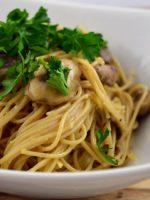 Receta de salsa carbonara con champiñones