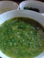 Receta de salsa verde con cilantro