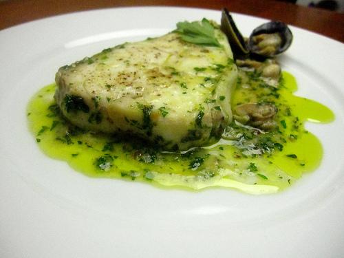 Receta de salsa verde con merluza