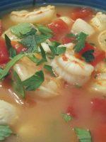 Receta de sopa de marisco con patata
