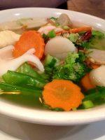 Receta de sopa de pescado con verduras