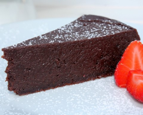 Receta de tarta de chocolate light