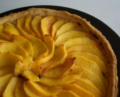 Receta de tarta de manzana con crema pastelera