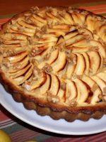 Receta de tarta de manzana y coco