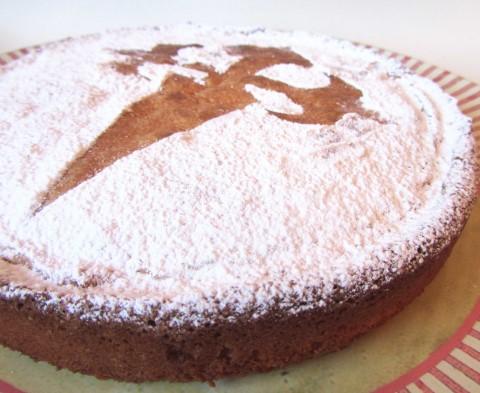 Receta de tarta de santiago sin huevo