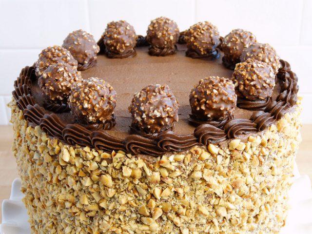 Receta de tarta Ferrero Rocher