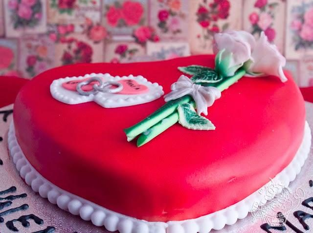Receta de tarta fondant san valentín
