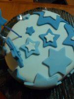 Receta de tarta fondant con estrellas