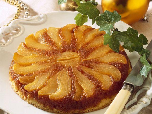 Receta de tarta tatin de pera