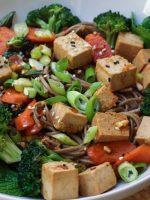 Receta de tofu con verduras