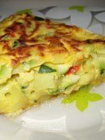 Tortilla de patatas con calabacin