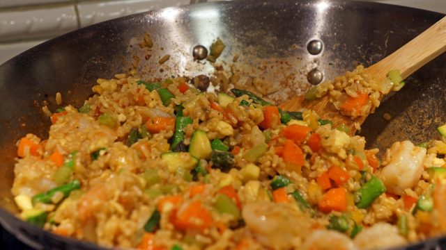 Receta de wok de arroz