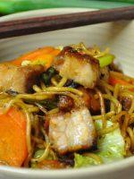 Receta de yakisoba con carne de cerdo
