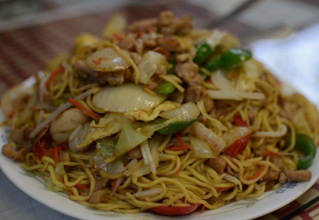 Receta de yakisoba con carne y verduras