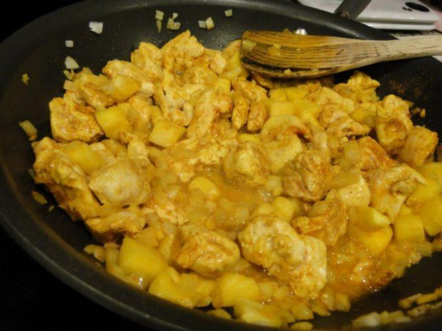 Receta de salsa curry con piña