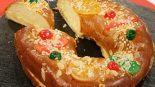 Receta de roscón de reyes con crema catalana