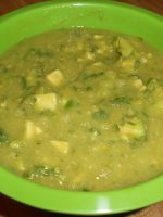 Receta de salsa verde con aguacate