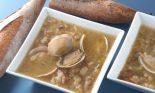 Receta de sopa de ajo con almejas