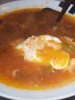 Receta de sopa de ajo con espárragos