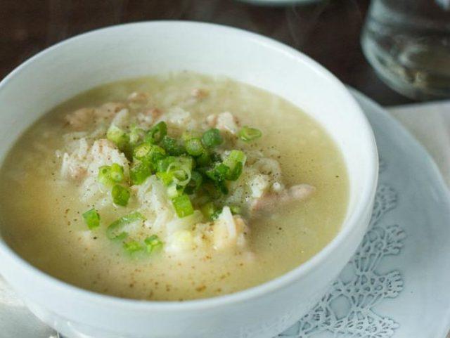 Receta de sopa de pollo con arroz