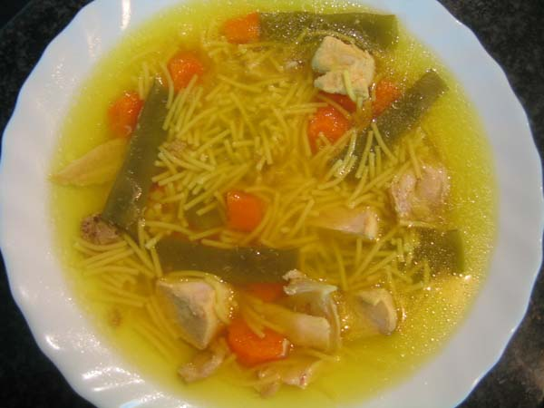 Receta De Sopa De Pollo Con Champiñones Unarecetacom