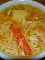 Receta de sopa de pollo murciana