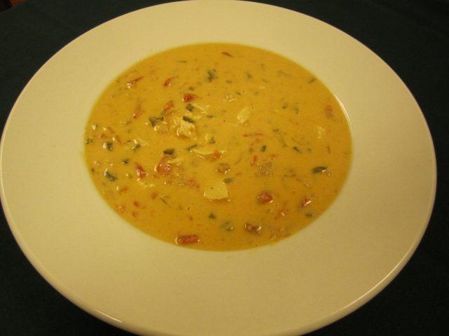Receta de sopa de pollo y queso