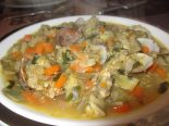 Receta de sopa de quinoa con almejas