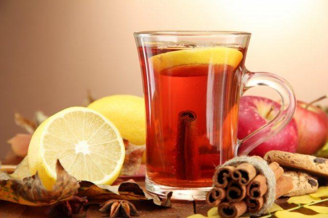 Receta de té rojo con limón