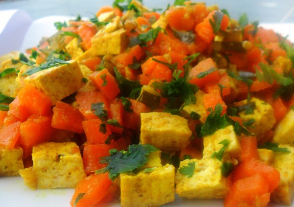 Receta de tofu al curry