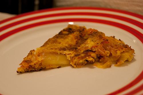 Receta de tortilla de patata con kimchi
