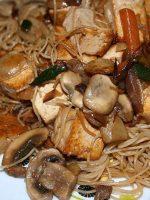 Receta de wok de champiñones