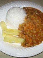 Receta de yuca con arroz y carne