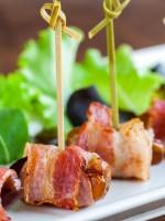Receta de dátiles con bacon