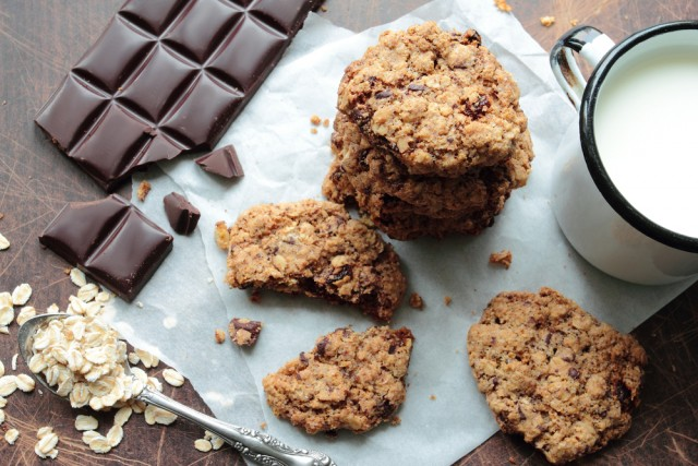 Receta de galletas de chocolate veganas