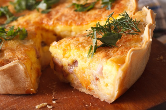 Receta de quiche de bacon y queso