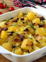 Receta de patatas al horno con cebolla