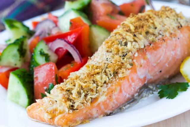 Receta de salmón al horno con naranja