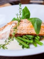 Receta de salmón al horno con nata
