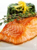 Receta de salmón al horno con salsa de mostaza y miel