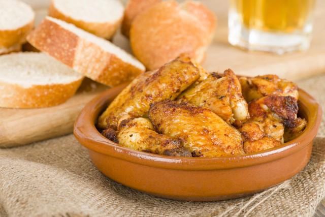 Receta de pollo frito al ajillo