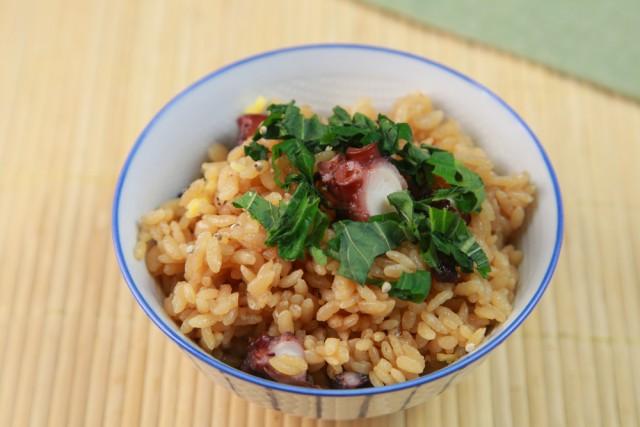Pulpo con arroz