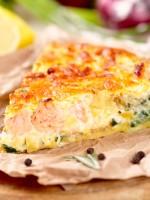Receta de quiche de puerros y salmón