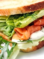 Receta de sándwich de salmón ahumado