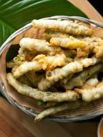 Receta de calçots con tempura