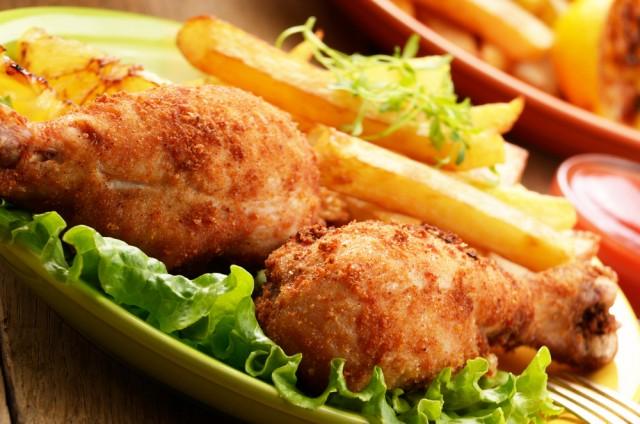 Receta de pollo frito crujiente
