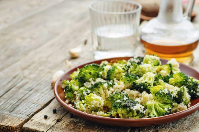 Receta de quinoa con brócoli