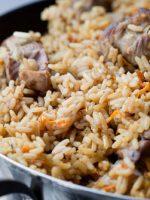 Receta de carne guisada con arroz